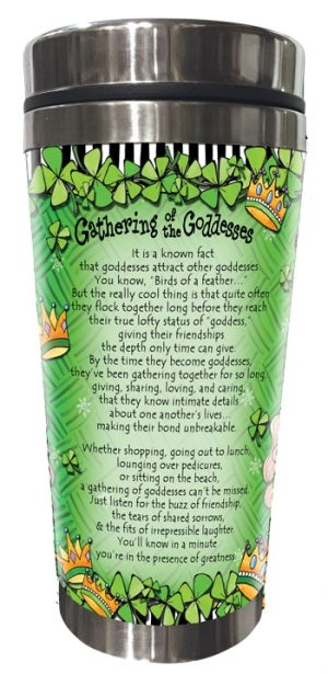 Gathering of the (IRISH) Goddesses Stainless Steel Tumbler BACK