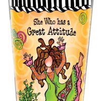 She Who has a Great Attitude – Stainless Steel Tumbler