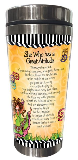 Great Attitude Stainless Steel Tumbler BACK