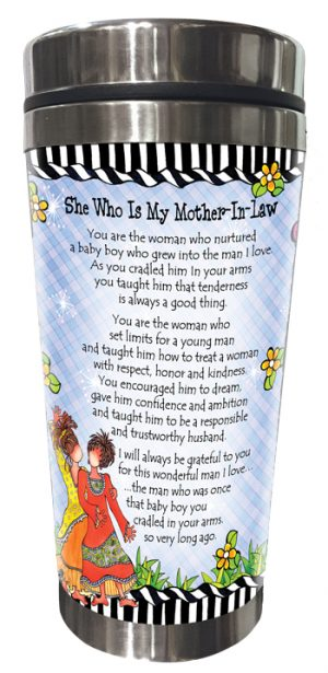 She Who is My Mother-in-law Stainless Steel Tumbler BACK