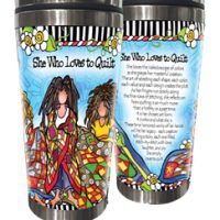 She Who Loves to Quilt – Stainless Steel Tumbler