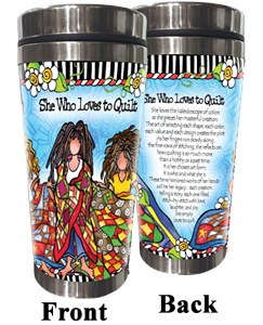 Loves to Quilt Stainless Steel Tumbler