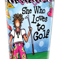 She Who Love to Golf – Stainless Steel Tumbler