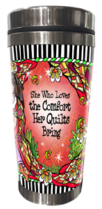 Comfort of Quilting Stainless Steel Tumbler FRONT