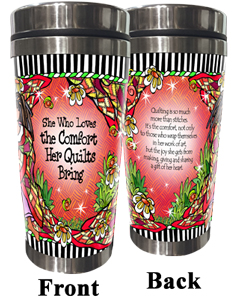 Comfort of Quilting Stainless Steel Tumbler