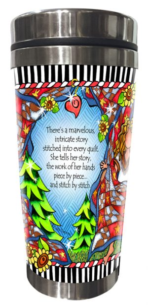 Story of Quilting Stainless Steel Tumbler BACK