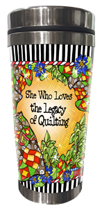 Legacy of Quilting Stainless Steel Tumbler FRONT