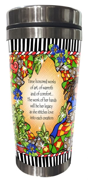 Legacy of Quilting Stainless Steel Tumbler BACK