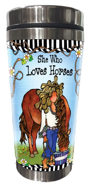 Horses Stainless Steel Tumbler FRONT