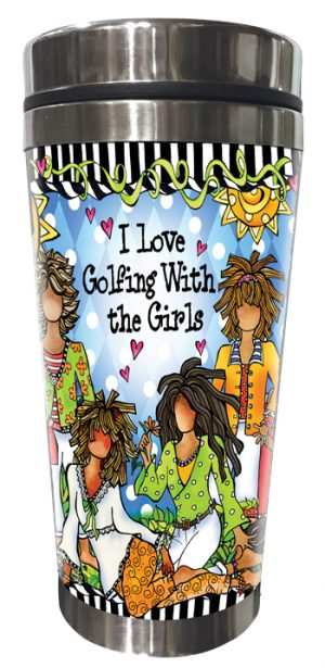 Golfing with Girls Stainless Steel Tumbler FRONT