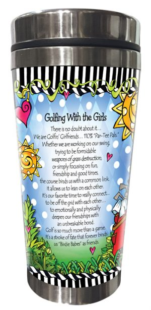 Golfing with Girls Stainless Steel Tumbler BACK
