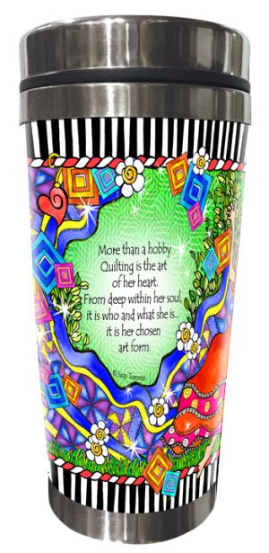 Artistry of Quilting Stainless Steel Tumbler BACK