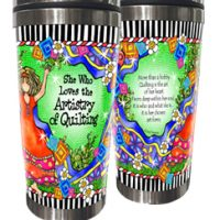 She Who Loves the Artistry of Quilting – Stainless Steel Tumbler
