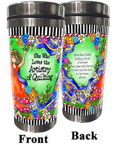Artistry of Quilting Stainless Steel Tumbler