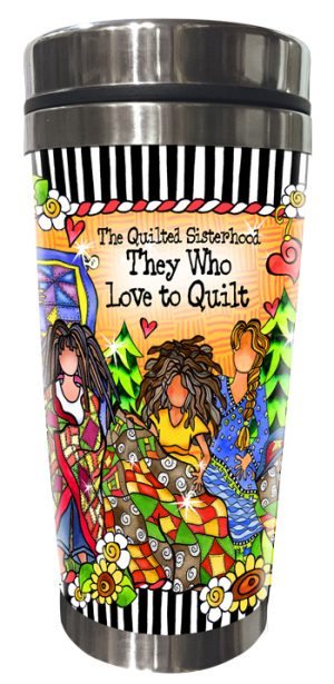 Quilted Sisterhood Stainless Steel Tumbler FRONT