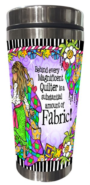 Magnificent Quilter Stainless Steel Tumbler FRONT