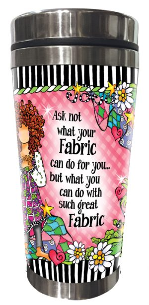 Ask Not Fabric Stainless Steel Tumbler FRONT