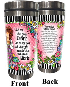 Ask Not Fabric Stainless Steel Tumbler