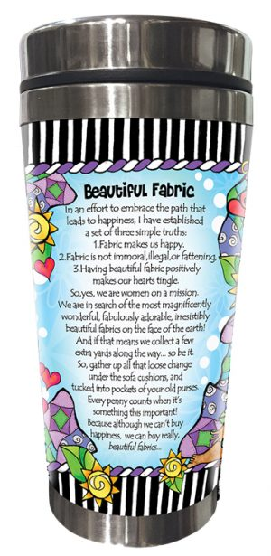 Beautiful Fabric Stainless Steel Tumbler - BACK