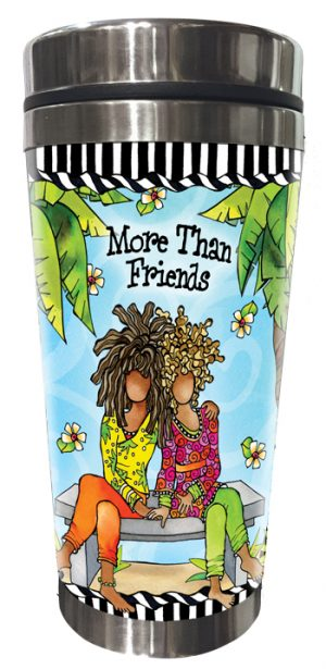 More Than Friends Stainless Steel Tumbler FRONT
