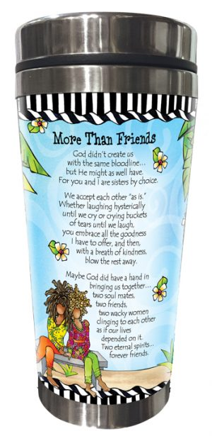 More Than Friends Stainless Steel Tumbler BACK