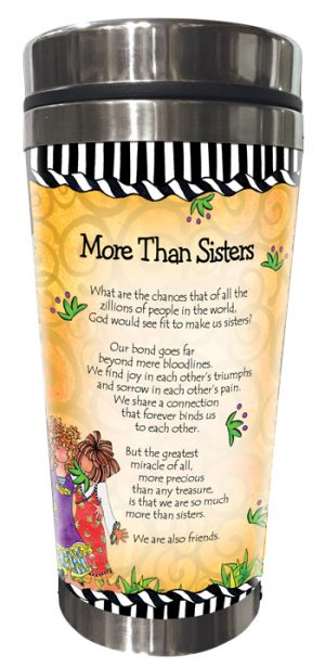 More Than Sisters Stainless Steel Tumbler BACK