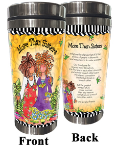 More Than Sisters Stainless Steel Tumbler