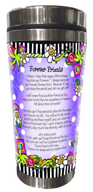 Forever Friends Stainless Steel tumbler BACK