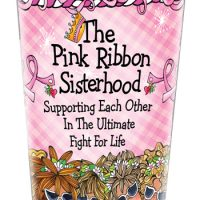 The Pink Ribbon Sisterhood — Supporting Each Other in The Ultimate Fight for Life (TH Pink Ribbon) – Stainless Steel Tumbler