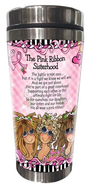 Pink Ribbon Stainless Steel Tumbler BACK
