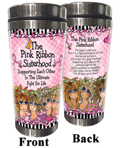 Pink Ribbon Stainless Steel Tumbler