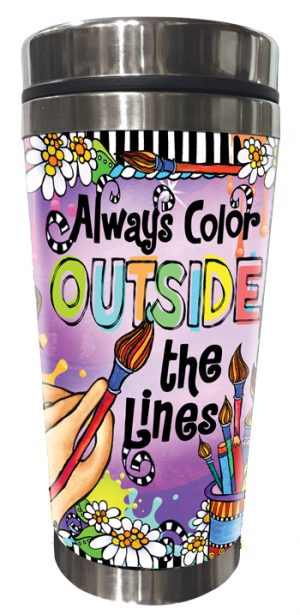 Color Outside the lines Stainless Steel tumbler FRONT