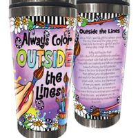 Always Color OUTSIDE the Lines – Stainless Steel Tumbler