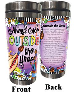 Color Outside the lines Stainless Steel tumbler