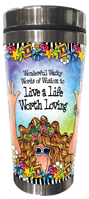 Life Worth Loving Stainless Steel tumbler FRONT