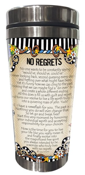 No Regrets Stainless Steel tumbler BACK