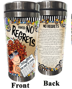 No Regrets Stainless Steel tumbler