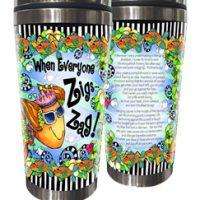 When Everyone Zigs… Zag! – Stainless Steel Tumbler