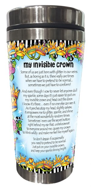 Invisible Crown Stainless Steel tumbler BACK