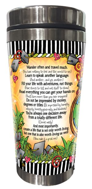 College Student Stainless Steel Tumbler BACK