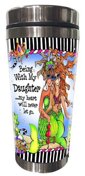 Divas/Mermaid Daughter Stainless Steel Tumbler FRONT