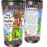 Being With My Daughter …my heart will never let go. (Divas of the Deep) – Stainless Steel Tumbler