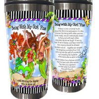 Being With My Girl 'Fins …and avoiding the sharks who so adore us! (Divas of the Deep) – Stainless Steel Tumbler