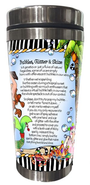 Bubbles Stainless Steel Tumbler BACK