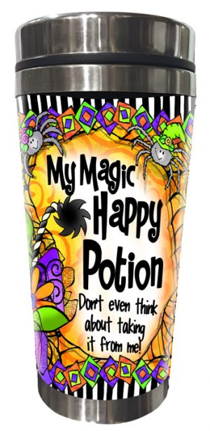 Magic Happy Potion stainless steel tumbler FRONT