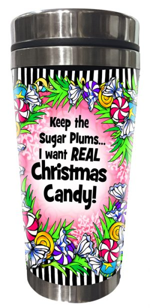 Christmas Candy Stainless Steel Tumbler FRONT