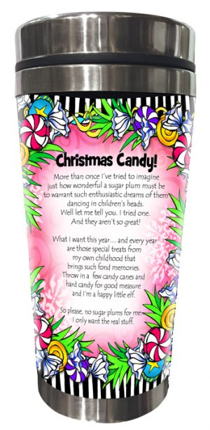 Christmas Candy Stainless Steel Tumbler BACK