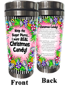 Christmas Candy Stainless Steel Tumbler