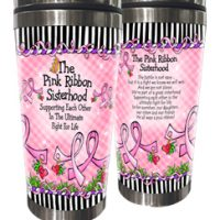 The Pink Ribbon Sisterhood — Supporting Each Other in The Ultimate Fight for Life (Pink Ribbon- no girls) – Stainless Steel Tumbler