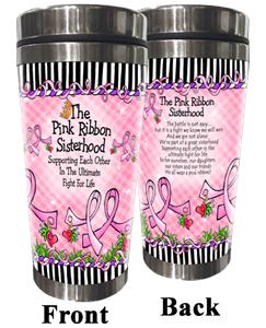 Pink Ribbon Sisterhood Stainless Steel Tumbler